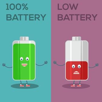 Battery achtergrond ontwerp