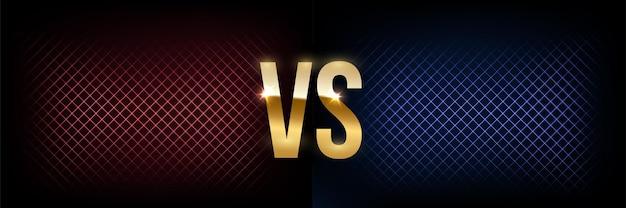 Battle banner concept met gloeiende versus symbool nachtclub evenement promotie