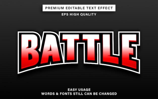 Battle text effect