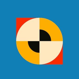 Bauhaus geïnspireerde vorm plat