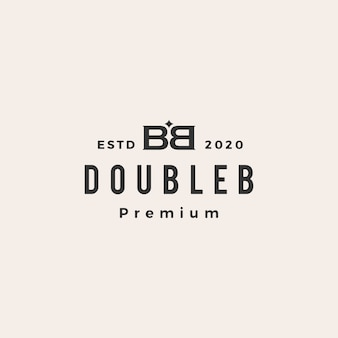 Bb dubbele b letter mark vintage logo pictogram illustratie