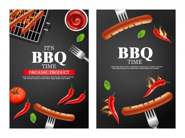 Bbq-grill partij banners collectie