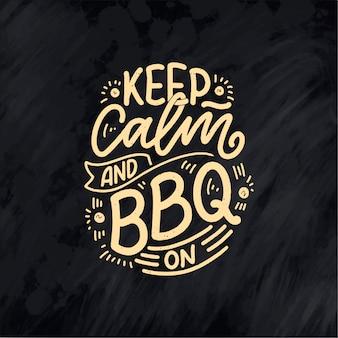 Bbq leuke slogan, geweldig ontwerp voor elk doel.