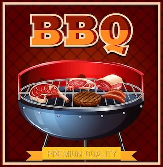 Bbq-rundvlees op de grill