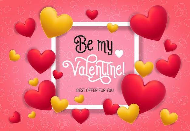 Be my valentine beste aanbieding belettering