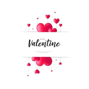 Be my valentine op witte achtergrond