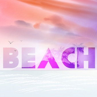 Beach achtergrond met transparantie-effect