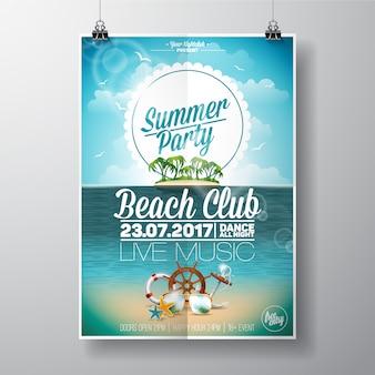 Beach club poster poster