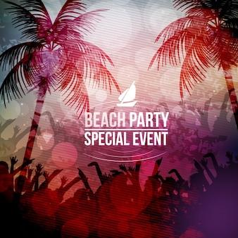 Beach party achtergrond