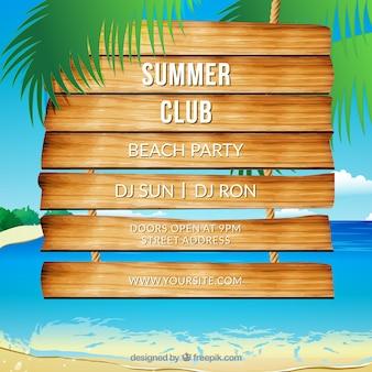 Beach party vector design