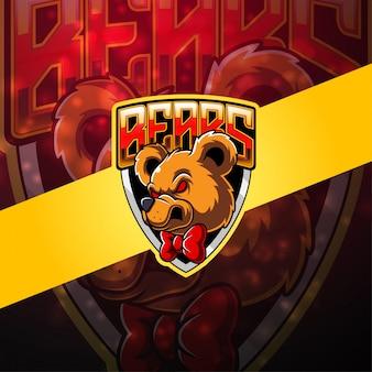 Bear esport mascotte logo
