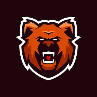 Bear esports logo-sjablonen