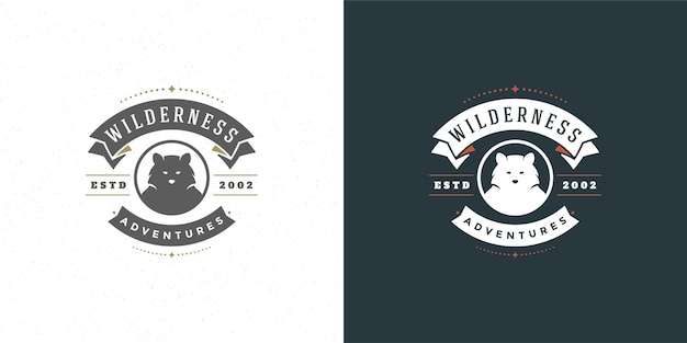 Bear hoofd logo embleem
