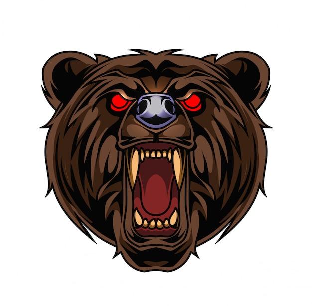 Bear hoofd mascotte logo