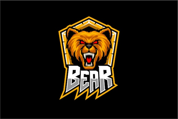 Bear hoofd vector mascotte
