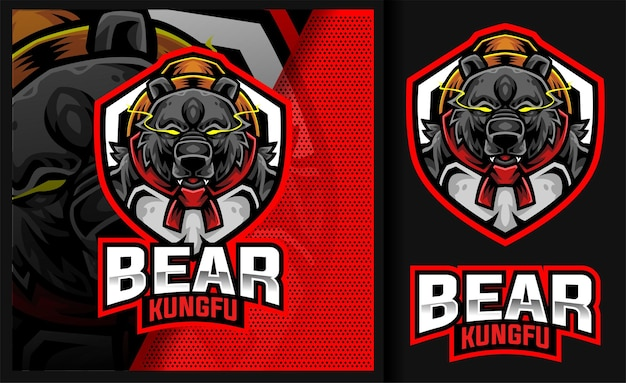 Bear kung fu master sport gaming-logo