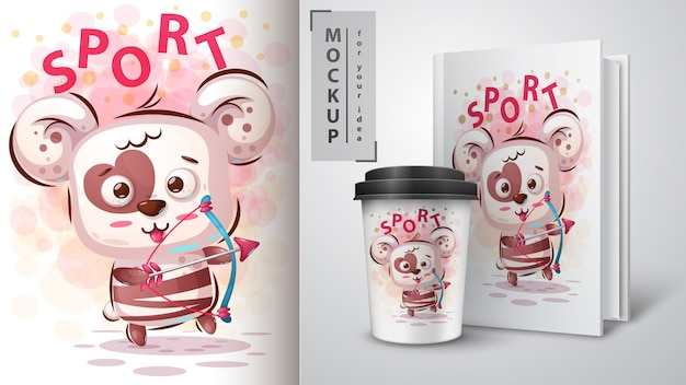 Bear love sportposter en merchandising