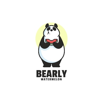 Bear mascotte cartoon stijl logo sjabloon