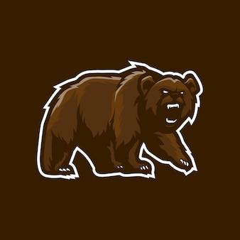 Bear mascotte logo ontwerp