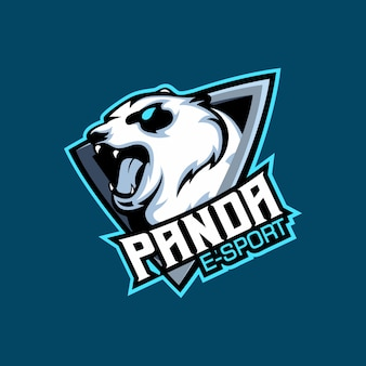 Bear panda e sport logo, gaming team mascotte