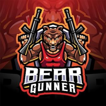 Bear schutter esport mascotte logo