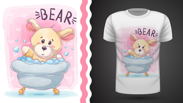 Bear wash - idee voor print t-shirt