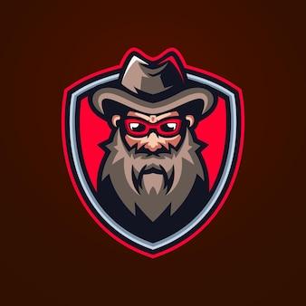 Beardman esports logo-sjablonen