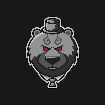 Bearturnedgangster karakter illustratie logo