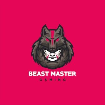 Beast master gaming logo ontwerp