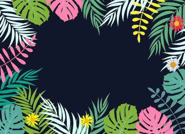 Beautifil palm leaf leaf achtergrond vectorillustratie