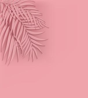 Beautifil palm tree leaf silhouet achtergrond