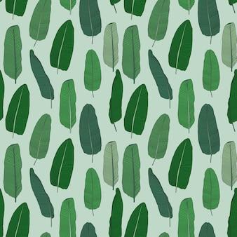 Beautifil palm tree leaf silhouet naadloze patroon achtergrond vectorillustratie eps10