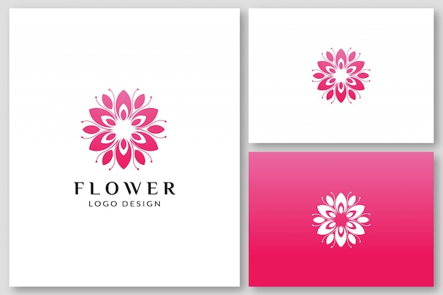 Beauty flower spa logo ontwerpsjablonen