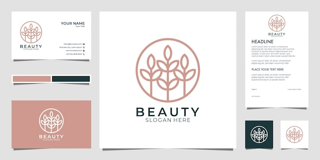Beauty logo ontwerp, kan worden gebruikt voor schoonheidssalon, spa, yoga en mode