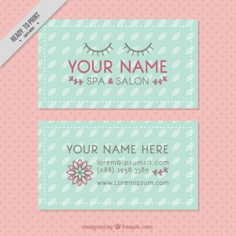 Beauty spa en een salon visitekaartje