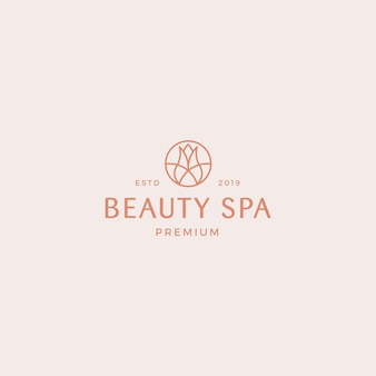 Beauty spa premium logo sjabloon