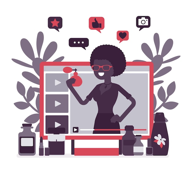 Beauty video blogger