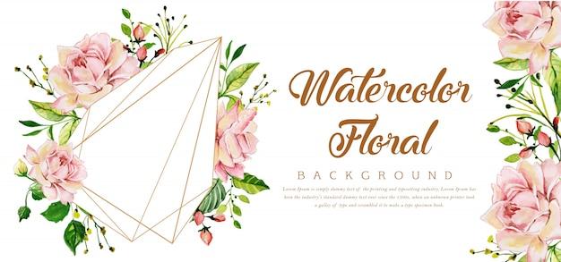 Beautyful waterverf bloemenachtergrond