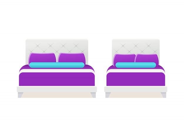 Bed pictogram vector