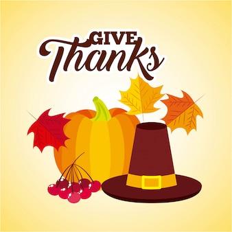Bedanken. fijne thanksgiving-dag