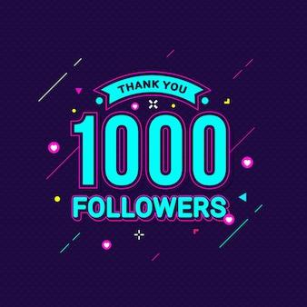Bedankt 1000 volgers felicitatie banner