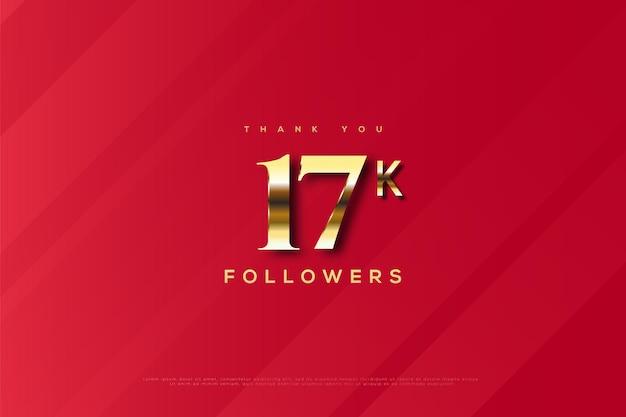 Bedankt 17k volgers op rode achtergrond