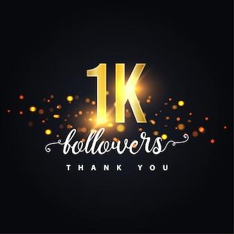 Bedankt 1k volgers