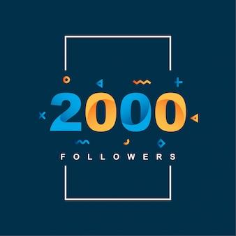Bedankt 2000 volgers