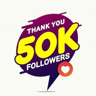 Bedankt 50k volgers felicitatie banner