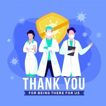 Bedankt aan de artsen, verpleegsters, medisch personeel die in het ziekenhuis werken en voor ons het coronavirus bestrijden.