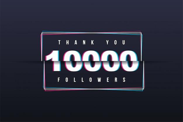 Bedankt banner van 10.000 volgers