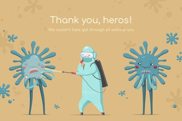 Bedankt banner voor artsen