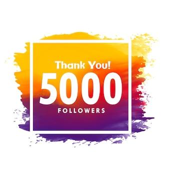 Bedankt bericht voor 5000 volgers van sociale media