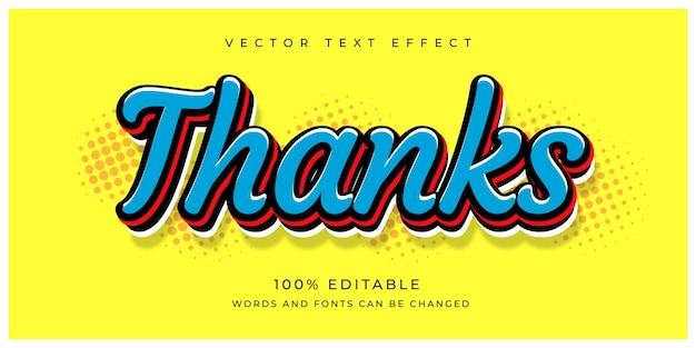 Bedankt bewerkbaar teksteffect